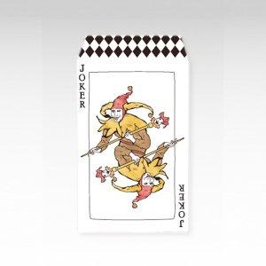 ジョーカー/お札用ぽち袋(中)5枚【縦型】『トランプ』