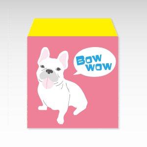 フレンチブルドッグ(ピンク)犬/コイン(硬貨)用ぽち袋(小)5枚