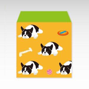 フレンチブルドッグ(オレンジ)犬/コイン(硬貨)用ぽち袋(小)5枚