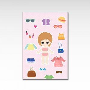 きせかえ人形/ポストカード