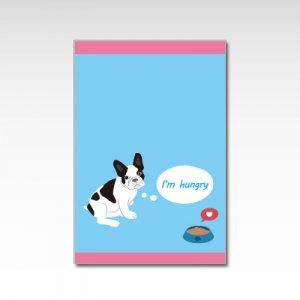 フレンチブルドッグ(ブルー)/ポストカード