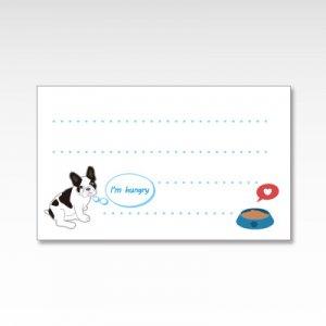 フレンチブルドッグ(ブルー)/メッセージカード 10枚入