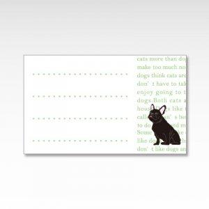 フレンチブルドッグ(グリーン)/メッセージカード 10枚入