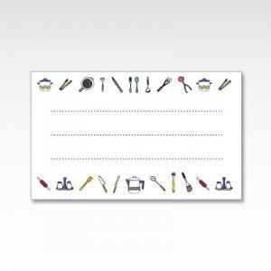 キッチン用品(料理)/メッセージカード 10枚