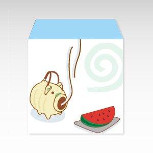 蚊遣り豚(蚊取り豚)/コイン(硬貨)用ぽち袋(小)5枚