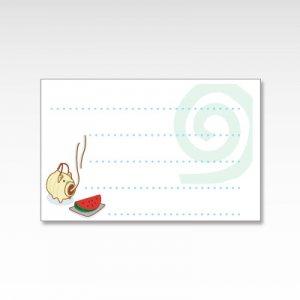蚊遣り豚(蚊取り豚)/メッセージカード 10枚
