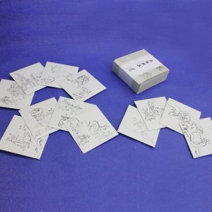 『鳥獣戯画』和紙正方形ぽち袋12枚セット