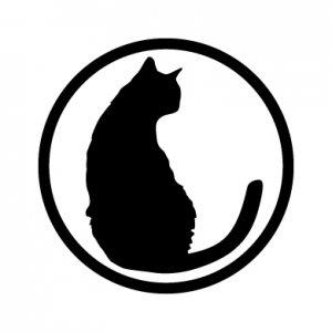 モノクロ猫/シール5枚セット