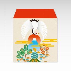鶴と亀/和紙ぽち袋(小) 5枚入