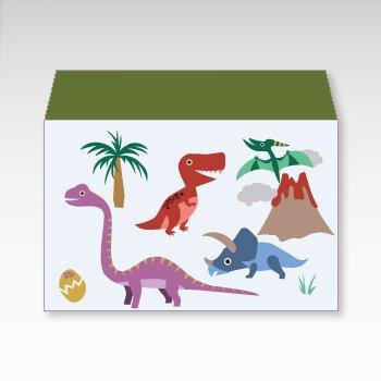 恐竜/横型プチ封筒 5枚入