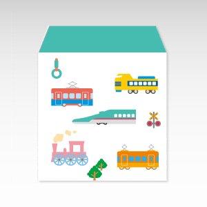 電車(機関車・鉄道)/コイン(硬貨)用ぽち袋(小)5枚