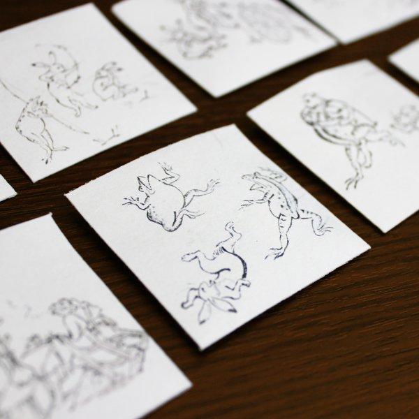 『鳥獣戯画』和紙におい袋12枚セット