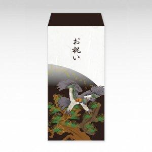 鷹と松/文字入り ぽち袋特大3枚