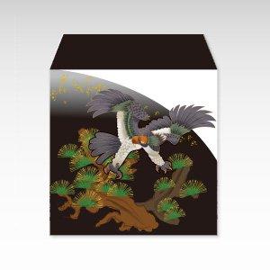 鷹と松/和紙ぽち袋(小) 5枚入