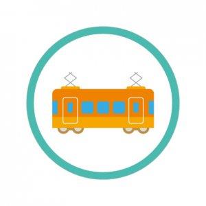 電車/シール5枚セット