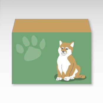 柴犬/横型プチ封筒 5枚入