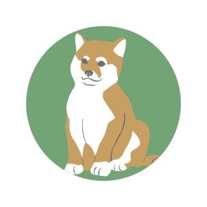 柴犬/シール5枚セット