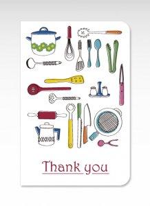 キッチン用品【グリーティングカード】(封筒付き)多目的 お祝い
