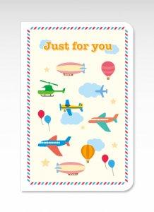 空の乗り物【グリーティングカード】(封筒付き) 多目的 お祝い