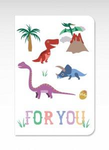 恐竜【グリーティングカード】(封筒付き)多目的 お祝い