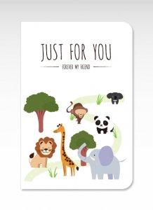 動物園【グリーティングカード】(封筒付き)多目的 お祝い