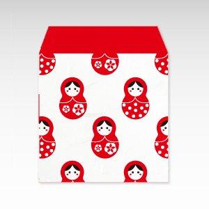 まとりょーしか(赤)/和紙ぽち袋(小) 5枚入