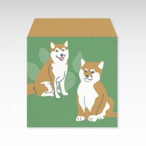 柴犬/和紙ぽち袋(小) 5枚入