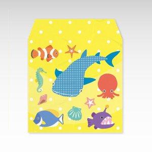 水族館/和紙ぽち袋(小) 5枚入