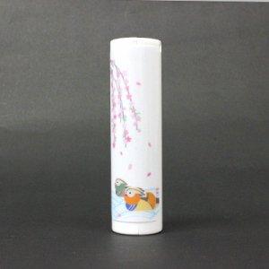 枝垂れ桜とおしどり【あぶらとり紙】ロールタイプ