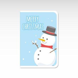 雪だるま【クリスマスカード】(封筒付き)グリーティングカード