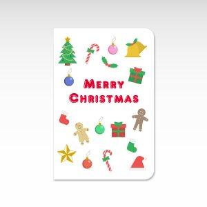 クリスマス総柄【クリスマスカード】(封筒付き)グリーティングカード