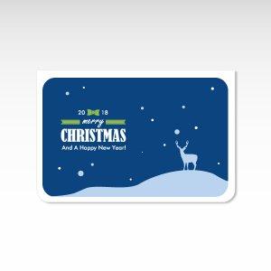 聖夜 青【クリスマスカード】(封筒付き)グリーティングカード