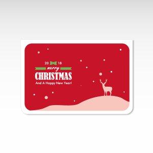 聖夜 赤【クリスマスカード】(封筒付き)グリーティングカード