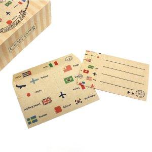 国旗/レターセット【Craft Paper Series】クラフトペーパーシリーズ