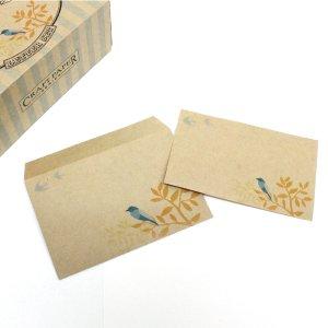 青い鳥/レターセット【Craft Paper Series】クラフトペーパーシリーズ
