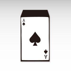 スペードのエース/お札用ぽち袋(中)5枚【縦型】『トランプ』