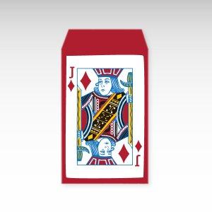 ダイヤのジャック/お札用ぽち袋(中)5枚【縦型】『トランプ』