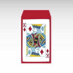 ダイヤのキング/お札用ぽち袋(中)5枚【縦型】『トランプ』