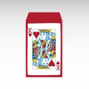 ハートのキング/お札用ぽち袋(中)5枚【縦型】『トランプ』
