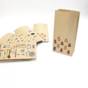 【福ろう(フクロウ・梟)】紙袋(ペーパーバッグ・角底)/20枚入り【クラフト紙製】