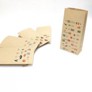 【国旗】紙袋(ペーパーバッグ・角底)/20枚入り【クラフト紙製】