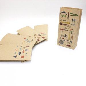 【キッチン用品(料理・食器)】紙袋(ペーパーバッグ・角底)/20枚入り【クラフト紙製】