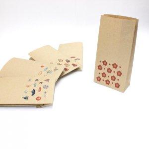 【みずたま梅(水玉梅)】紙袋(ペーパーバッグ・角底)/15枚入り【クラフト紙製】