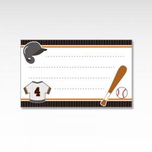 野球部/メッセージカード 10枚