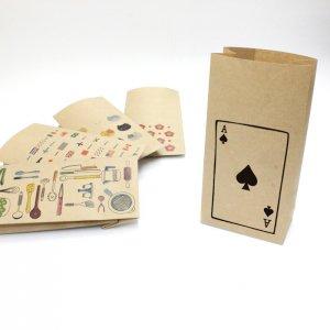 【スペードのエース】(トランプ)紙袋(ペーパーバッグ・角底)/15枚入り【クラフト紙製】