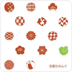 井口明香「水玉・赤」コースター/100枚〜