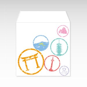 京都すたんぷ(京都スタンプ)/コイン(硬貨)用ぽち袋(小)5枚