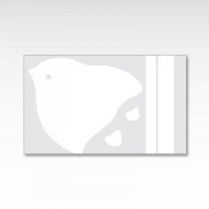 モノクロ千鳥/メッセージカード 10枚