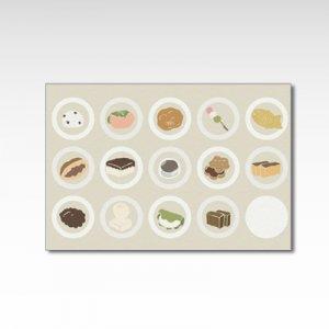 「和モダン和菓子柄」/ポストカード