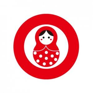 まとりょーしか(赤)/シール5枚セット